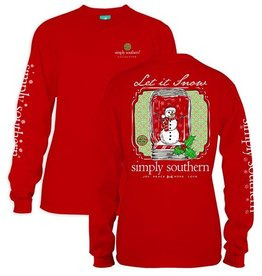 Simply Southern YTH-LS-SNOW-RED-MEDIUM by Simply Southern
