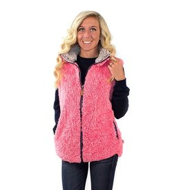 Simply Southern SHERPA-VEST-PEONY-MEDIUM by Simply Southern