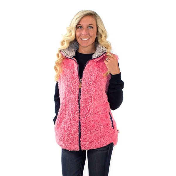 Simply Southern SHERPA-VEST-PEONY-SMALL by Simply Southern