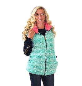Simply Southern SHERPA-VEST-SEAGLASS-SMALL by Simply Southern