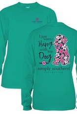 Simply Southern LS-PREPPYDOG-SEAGLASS-S by Simply Southern