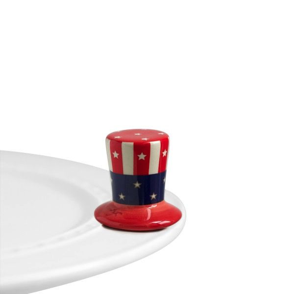 Nora Fleming A53 home of the free (uncle sam hat) Minis by Nora Fleming
