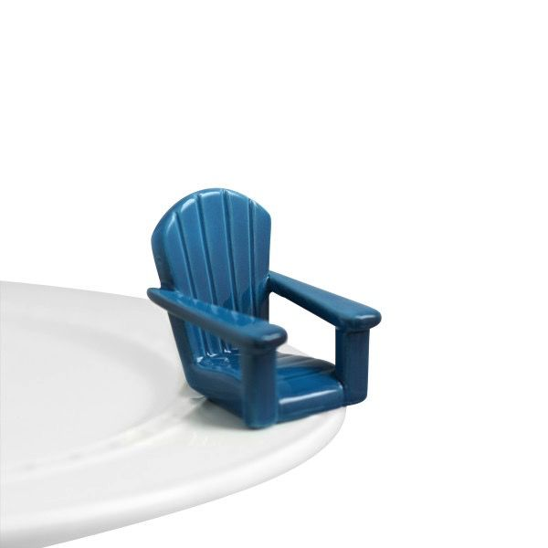 Nora Fleming A67 chillin' chair (blue adirondack chair) Minis by Nora Fleming