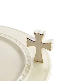 Nora Fleming A176 cross (white cross) Minis by Nora Fleming