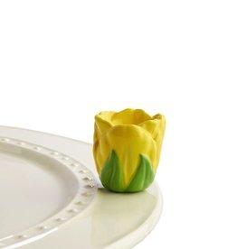 Nora Fleming A180 tiptoe thru 'em (yellow tulip) Minis by Nora Fleming
