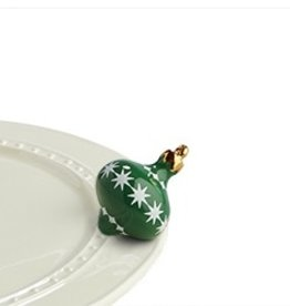 Nora Fleming A190 Trim the tree (green ornament) Minis by Nora Fleming