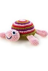 Pebble 200-099TP Turtle Rattle Pink