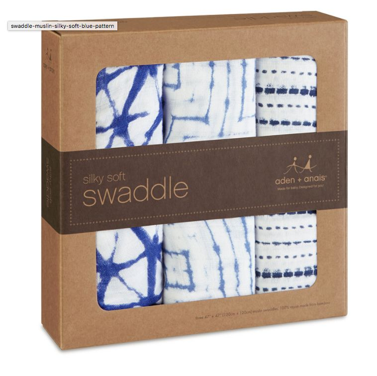 Aden and Anais Aden and Anais 3-Pack Silky Soft Swaddles