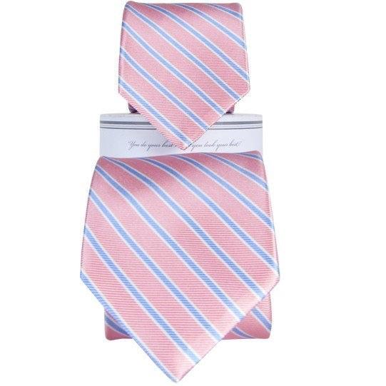 Collared Greens Collared Greens Pink/Carolina tie (Youth)