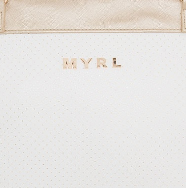 MAYORAL Mayoral White & Gold Diaper Bag
