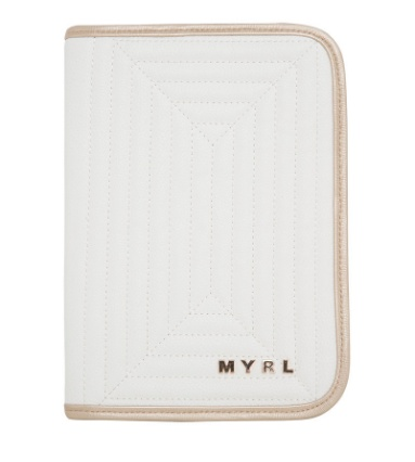MAYORAL Mayoral White & Gold Baby Document Holder