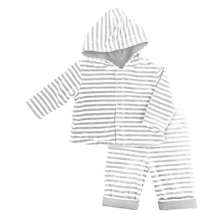 magnificent baby Stripe Velour Hoodie & Pant Set