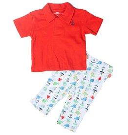 magnificent baby Red Nantucket Polo Shirt & Pants