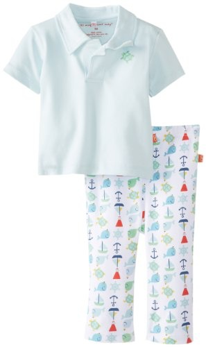 magnificent baby Blue Nantucket Polo Shirt & Pants