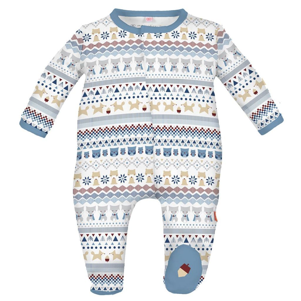 magnificent baby Blue Fair Isle Footie