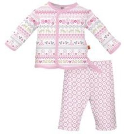 magnificent baby Pink Fair Isle Set