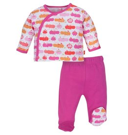 magnificent baby Girl Hippo Friends Kimono + Pants