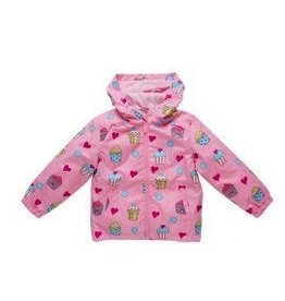 Holly & Beau Pink Cupcake Rain Color Changing Raincoat