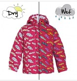 Holly & Beau Fuchsia Feather Color Changing  Raincoat