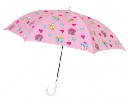 Holly & Beau Pink Cupcake Color Changing Umbrella