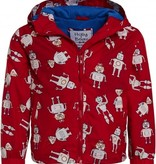Holly & Beau Red Robots Color Changing  Raincoat