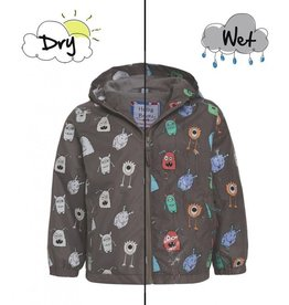Holly & Beau Gray Monster Color Changing Raincoat