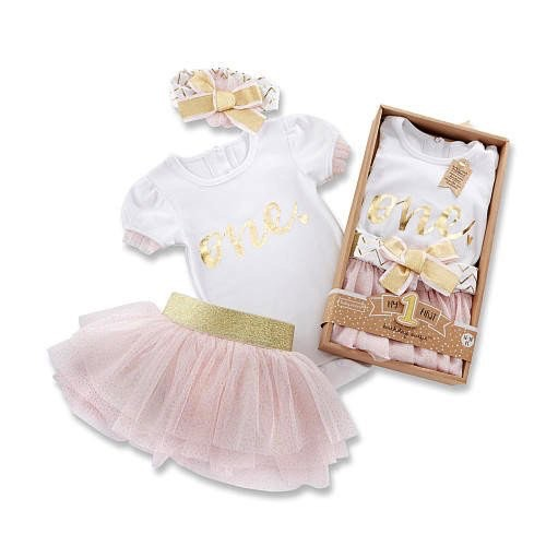 Baby Aspen My First  Birthday Three Piece Tutu Outfit