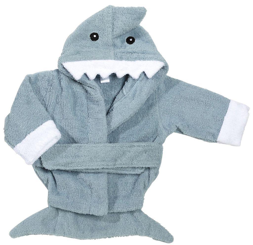Baby Aspen Let The Fin Begin Blue Shark Robe