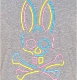 Psycho Bunny Gray Neon Bunny T-Shirt