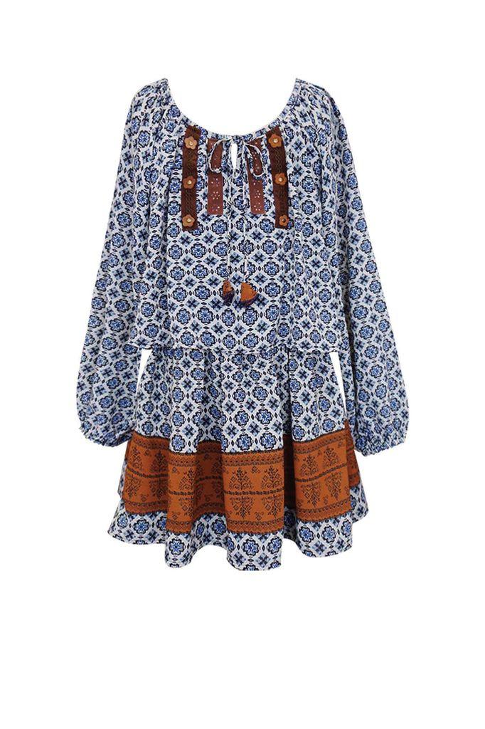 GBYM Navy Blue Multi Dress