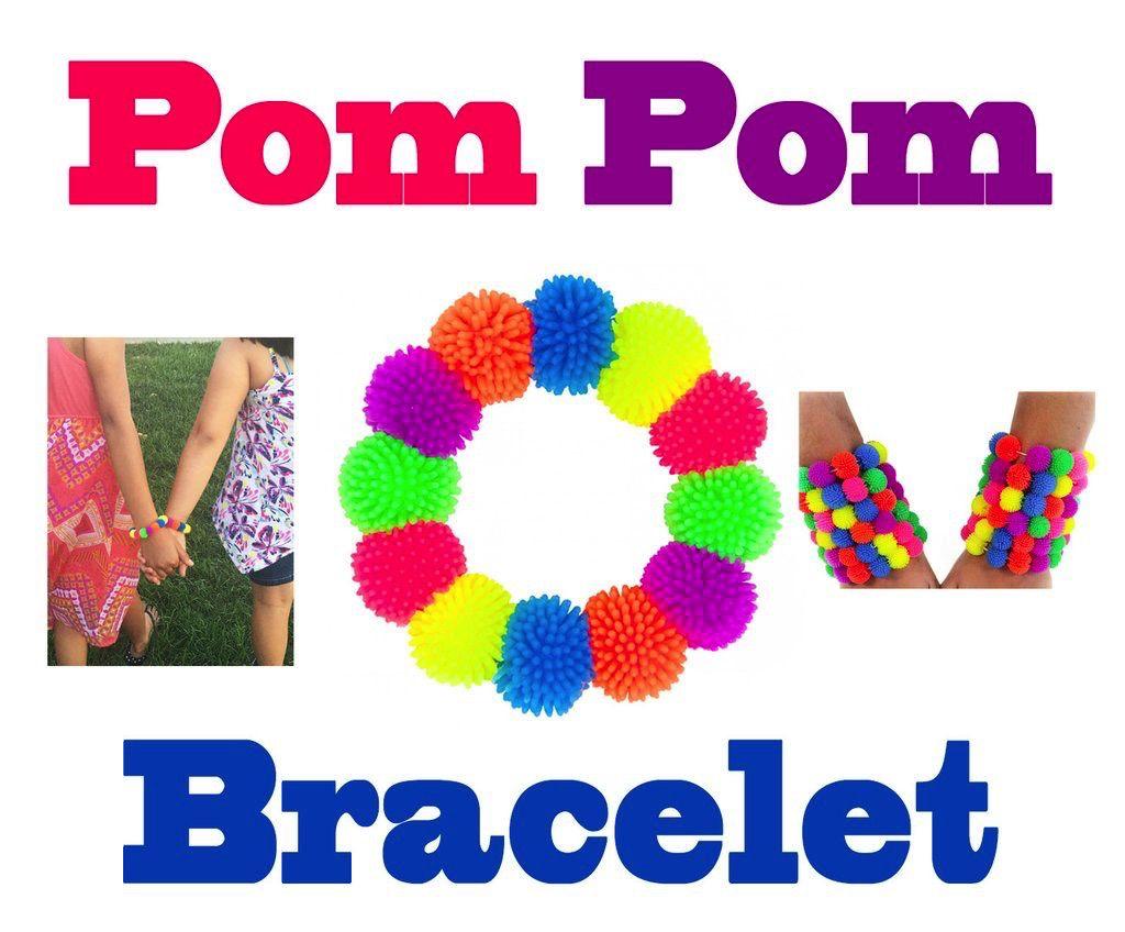 American Jewel Pom Pom Bracelets