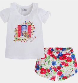 MAYORAL Mayoral Printed Shorts Set