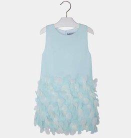 MAYORAL Mint Low Petals Dress
