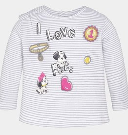 Mayoral L/s I Love Pets T-shirt
