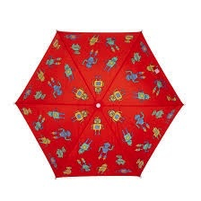 Holly & Beau Red Robots Color Changing Umbrella
