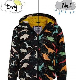 Holly & Beau Black Dinosaur Color Changing Raincoat
