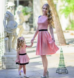Elzoria Mom's I Dream of Parc de Bagatelle in Perfectly Peony Dress