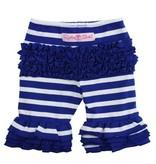 RUFFLE BUTTS Saphire Stripe Ruffle Shorts