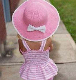 RUFFLE BUTTS Bethany Bow Sun Hat