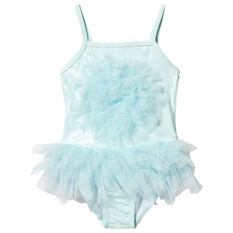 Biscotti-Kate Mack Biscotti-Kate Mack Sequin and Tulle Tutu Swimsuit 1 PC