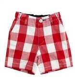 RUGGED BUTTS Red Plaid Shorts