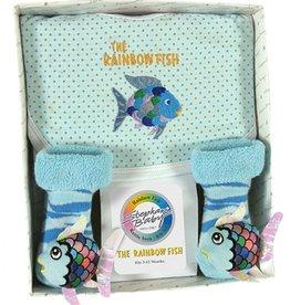 Fish Bib-Rattle Sock Set