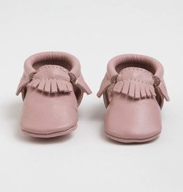 Freshly Picked Freshly Picked Newborn Moccasins Blush