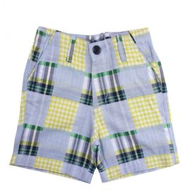 RUFFLE BUTTS Patchwork Madras Plaid Shorts