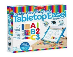 MELISSA AND DOUG Double Side Magnetic Table Top Easel