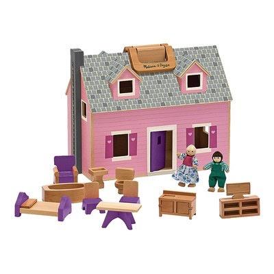 MELISSA AND DOUG Fold-N-Go House Dollhouse