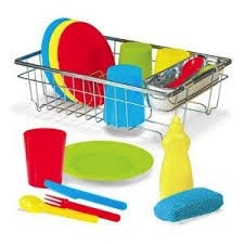 MELISSA AND DOUG Wash And Dry Dish Set