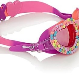 BLING20 Candy Hearts w. Sliders Swim Goggles