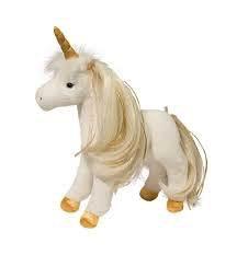 Douglas The Cuddle Toy Golden Princess Unicorn w/brush
