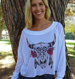 Jackie Z Buffalo And Roses Tee Shirt